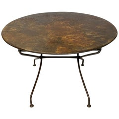 French 1920s Folding Bistro Table with Incredible Weathered Finish
