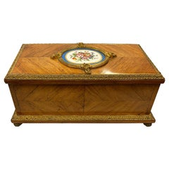 French 19th Century 'Sevres' Porcelain Mounted Casket