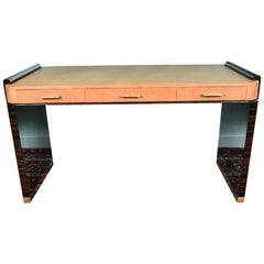 French Art Deco Desk in Macassar Wood