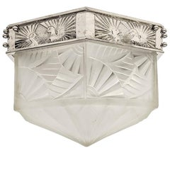 French Art Deco Flush Mount Signed by Degue