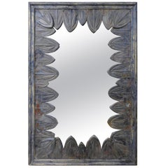 French Art Deco Mirror with Zinc Petals