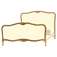 French Bed US Queen UK King Includes Recovering 20th Century Louis revival