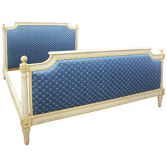 French Bed US Queen UK King Size Upholstered 20th Century Louis XVI Revival