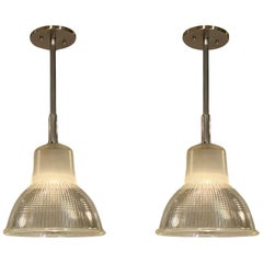 French Industrial Pendant Lights