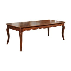 French Louis XV Style Custom Dining Table from Lyon with Parquetry Inlaid Top