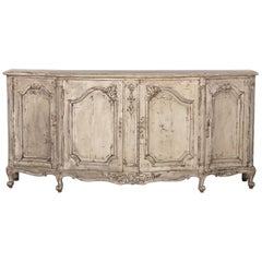 French Louis XV Style Painted Enfilade Buffet, Early 1900s