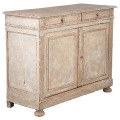 French Louis XVI Style Painted Walnut Buffet, Early 1900s