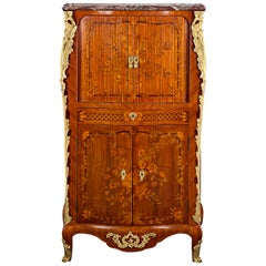 French Tambour-Front Secretaire