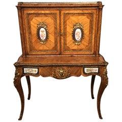 French Victorian Period  Kingwood, Ormolu and Plaque Mounted Bonheur De Jour