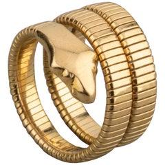 French Vintage Gold Snake Ring