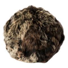 Fur Snowball Pillow - Truffle