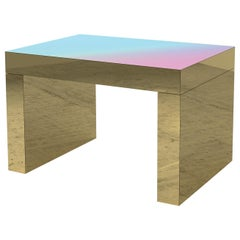 Gradient Bench/Coffee Table Light Blue-Rose Gaby Aluminium by Chapel Petrassi