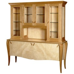 Gazelle Hutch Custom Handcrafted Contemporary Breakfront with Art Deco Style