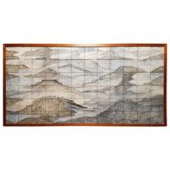 "Gela St. Galy ""Dawn of Civilization"" Ceramic Tile Panel  Carmel, CA, circa 1978"