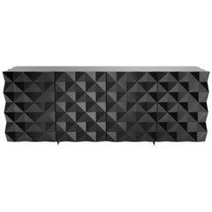Geometric Black Credenza and Sideboard from Rocky Collection by Joel Escalona