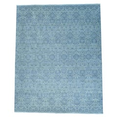 Geometric Design Hand Knotted Pure Wool Oversize Rug