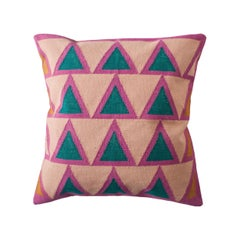 Geometric Maya Light Pink Modern Throw Pillow Cover