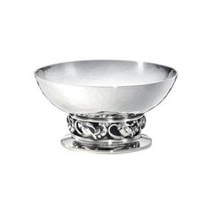 Georg Jensen 2 Handcrafted Sterling Silver Bowl for Tea Strainer