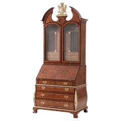 George I Style Mahogany Secretary Desk