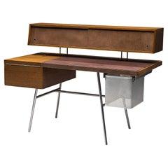 George Nelson Functional Desk in Walnut