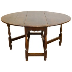 Georgian Oak Gateleg Table For Sale
