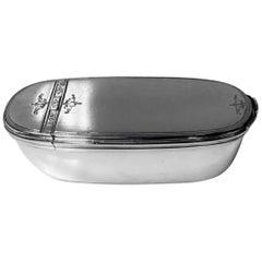 Georgian Silver Bath Snuff Box, London, 1767