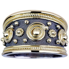 Georgios Collections 18 Karat White and Yellow Gold Byzantine Ring