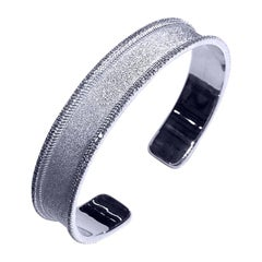 Georgios Collections 18 Karat White Gold Diamond Bangle Bracelet