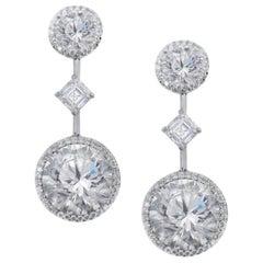 GIA Certified 19.19 Carat Important Diamond Earrings