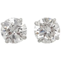 GIA Certified Diamond Stud Earrings 4.71 Carat E-F