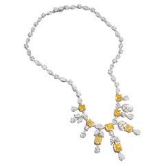 GIA Certified Fancy Intense Yellow Diamond Necklace by Graff