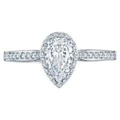 GIA Certified Natkina Engagement Ring Pear Diamond Cut