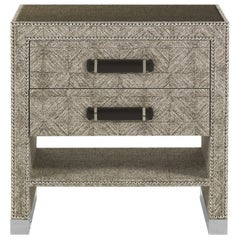 Gianfranco Ferre Hamilton Night Table in Poplar and Fabric