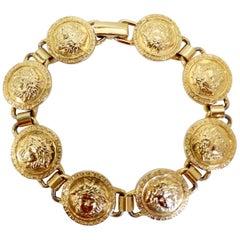 Gianni Versace 1990s Medusa Medallion Bracelet