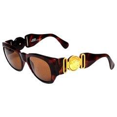 Gianni Versace Mod 413/A Brown Vintage Sunglasses