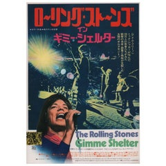 Gimme Shelter 1971 Japanese B5 Chirashi Flyer