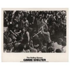 """Gimme Shelter"" 1971 U.S. Silver Gelatin Single-Weight Photo"