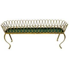 "Gio Ponti Mid-Century Modern Italian Spiral Brass Planter ""Casa E Giardino"""