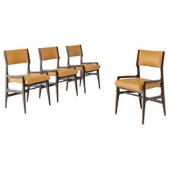 Gio Ponti Rare Set of Four Leather Dining Chairs
