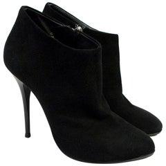 Giuseppe Zanotti Black Suede Boots 38