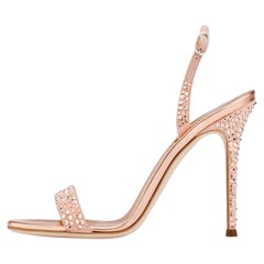 Giuseppe Zanotti NEW Pink Suede Crystal Evening Sandals Heels in Box