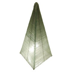 Glass Sculptural Pyramid Light