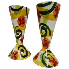 Glazed Pottery Goblets by Marilee Hall