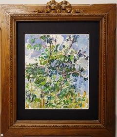 """Study for apple trees"" oil cm.34 x 29  1950"