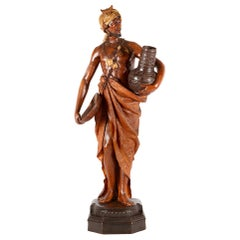 Goldscheider Terracotta Statue of Arab Water Carrier, 19th Century