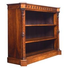 Gothic Revival Walnut Open Bookcase