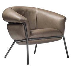 Grasso Leather Armchair, by Stephen Burks from Dante