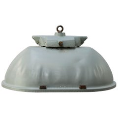 Gray Green Oval Vintage Industrial Double Bulb Pendant Lights