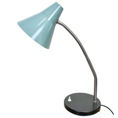 Grey Industrial Gooseneck Table Lamp, 1960s
