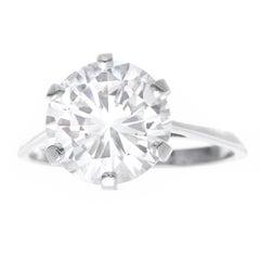 Gubelin Art Deco 3.86 Carat Diamond Engagement Ring G VS1 SSEF Lab Report